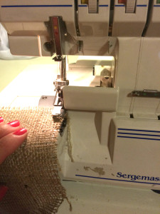 Burlap Chair sash -serger