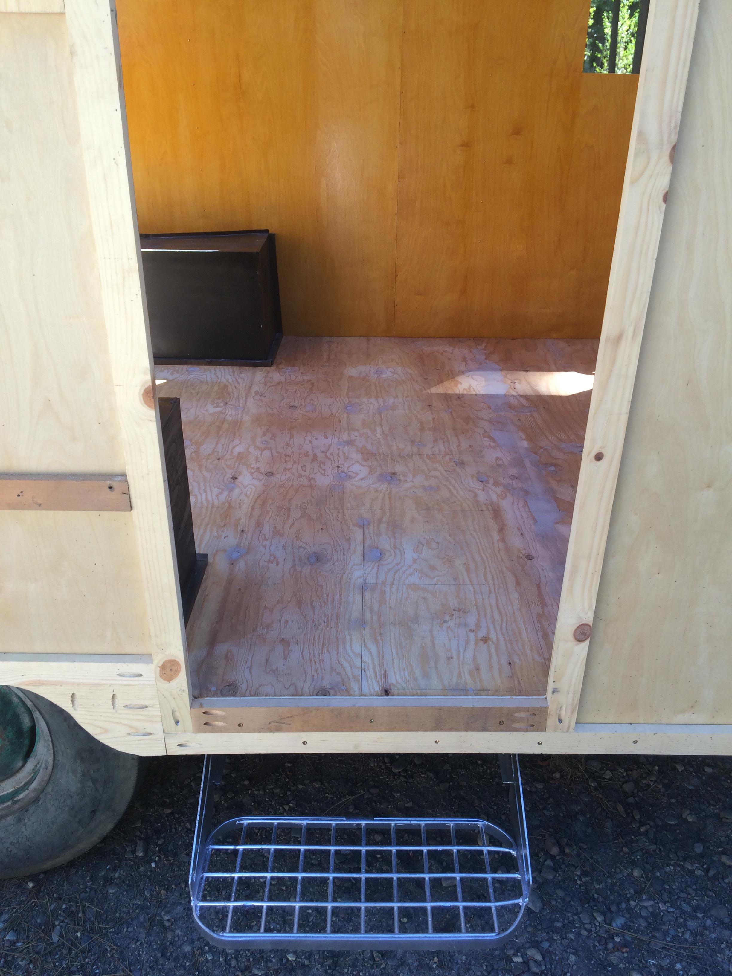 Behind the Scenes Look at My Vintage Camper Flooring Install | Lip ...