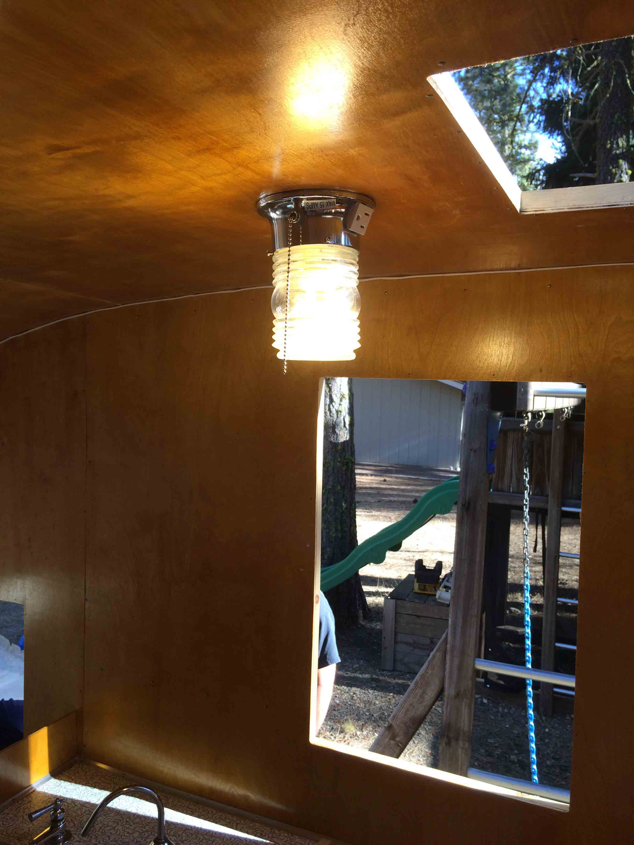 How To Wire Your Vintage Camper Trailer Wiring A New Light Fixture Old The Next Order Of Business Is Connect Water Tank Install Faucet Hand Pump And Drain Hard Could That Be These Words Have Gotten Me