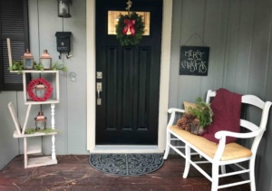 front door wit wreath